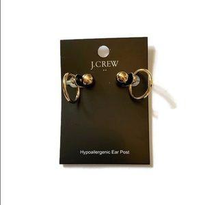 J.crew simple circle ear jackets gold